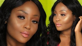 Natural Bronze Glow Makeup Tutorial for Melanin/Brown Skin | Highlight Beamin'