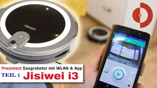 jisiwei i3 Test - Staubsaugerroboter mit WLAN, APP und Alarmfunktionen