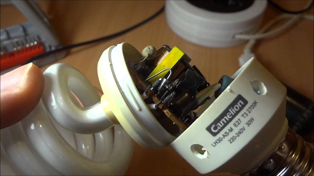 Ремонт энергосберегающей лампы своими руками видео фото 222