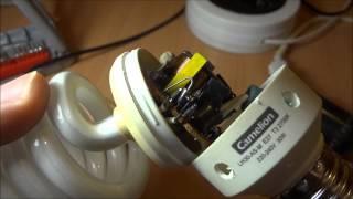 Ремонт энергосберегающей лампы(Ремонтируем и допиливаем энергосберегающую лампу своими руками., 2014-12-15T17:04:37.000Z)