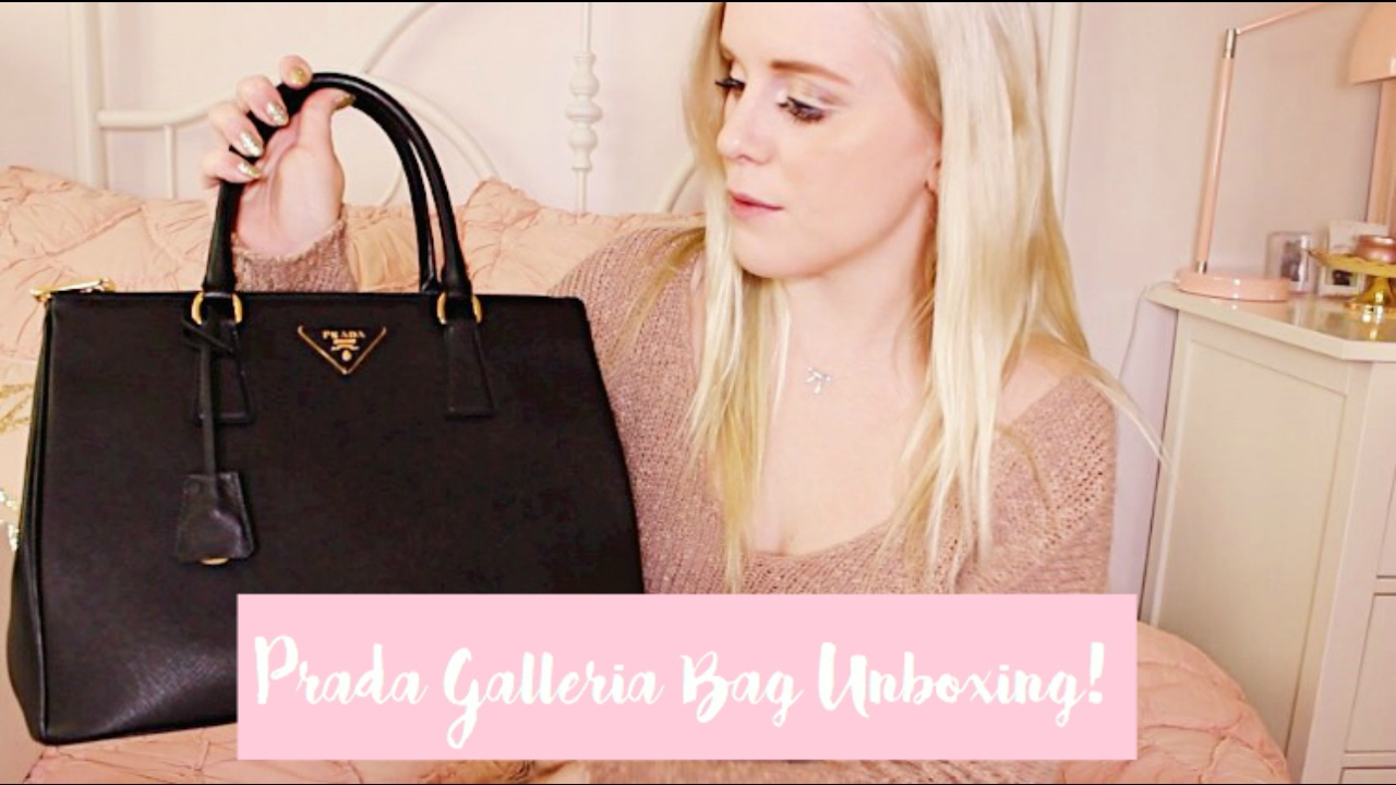 9a02c449 PRADA GALLERIA TOTE BAG UNBOXING