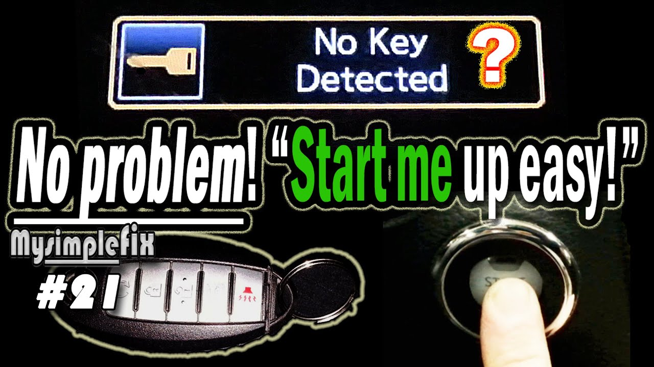 "Start a ""push button start"" car with a dead smart key/fob"