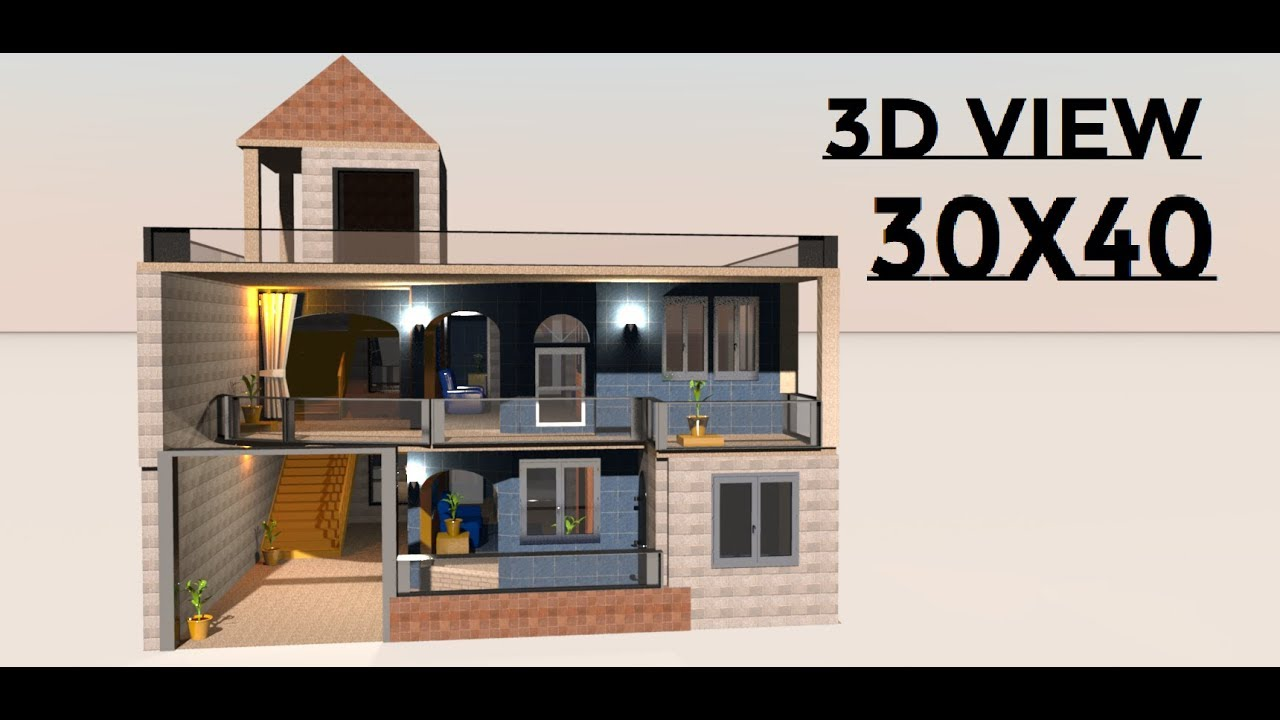30x40 Modern House Design Made By Build Your Dream House
