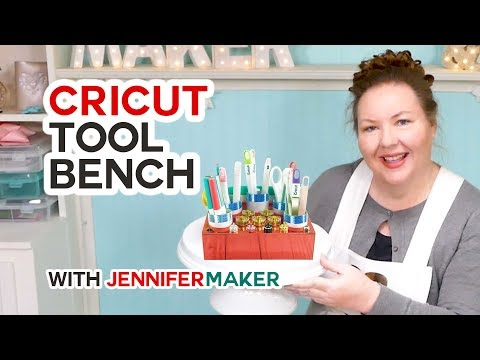 Cricut Tool Bench: A Craft Tool Holder & Organizer Made On The Cricut Explore Or Maker!!