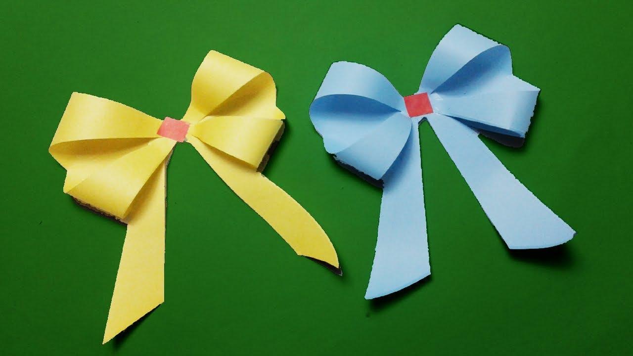 Origami Bow | 종이 접기 튜토리얼, 공예, 종이접기 | 720x1280