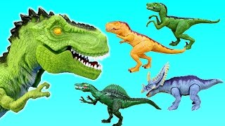 Dinosaur Toys Adventure Force Light and Roar Sound T-rex Spinosaurus Triceratops For Kids