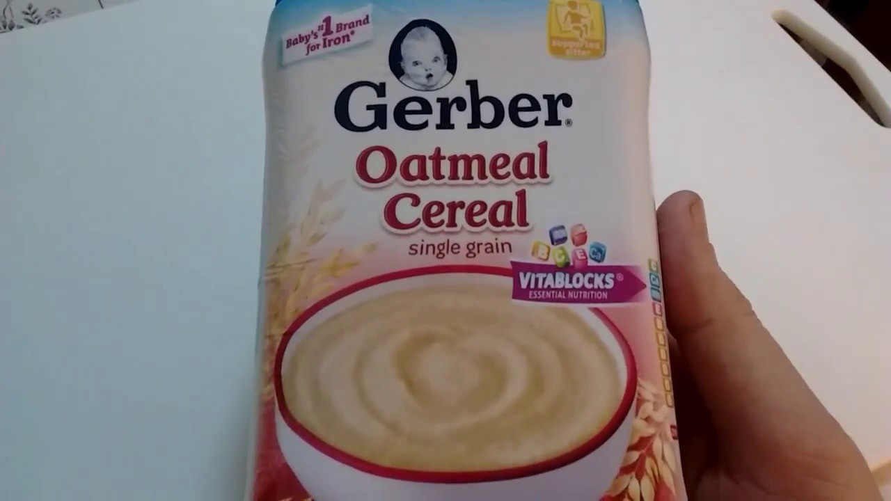 Oatmeal cereal gerber youtube oatmeal cereal gerber ccuart Image collections