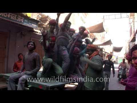 Holi celebration in Rajasthani style
