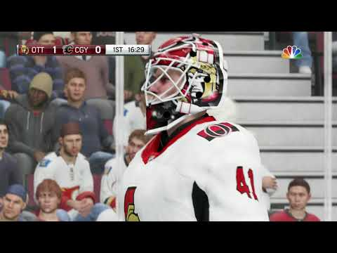 NHL 18 Ottawa Senators vs Calgary Flames