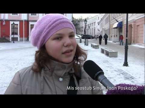 Tartu rahu ja Jaan Poska teemaline linnaküsitlus