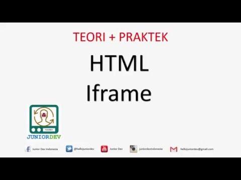 Membuat Iframe HTML Dan Menampilkan Video Youtube Dengan Iframe | Tutorial HTML (part 12)
