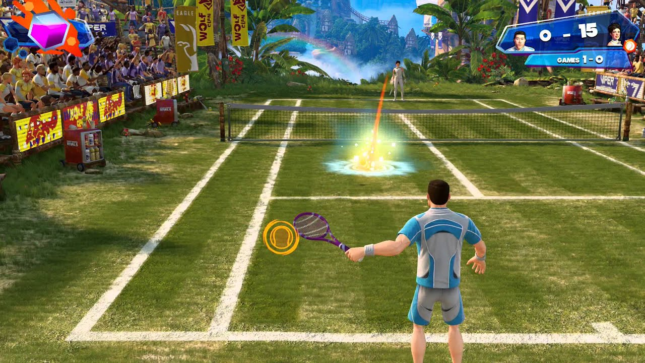 Sports Games Xbox One : Kinect sports rivals tennis tutorial xbox one gameplay
