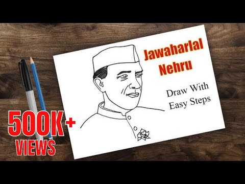 how to draw nehru | jawaharlal nehru drawing | drawing for kids- nehru place
