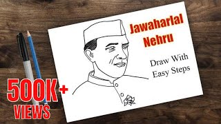 how to draw nehru | jawaharlal nehru drawing | drawing for kids- nehru place