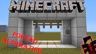Minecraft Tutorial 04 - Portão Automático - Baron Gamer -