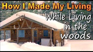 HOW I MADE MY LIVING - While living In A Cabin In The Woods.  Homesteading On An Artist Income.