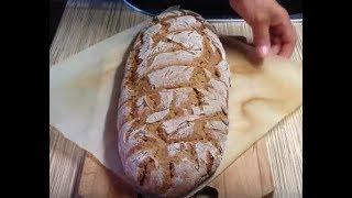 Бездрожжевой домашний хлеб на кефире от Марии .Читайте поправку под видео.
