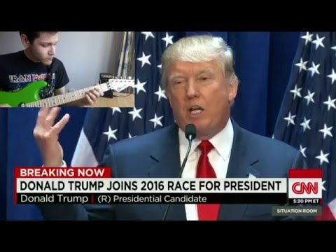 Donald Trump speech-to-guitar translation