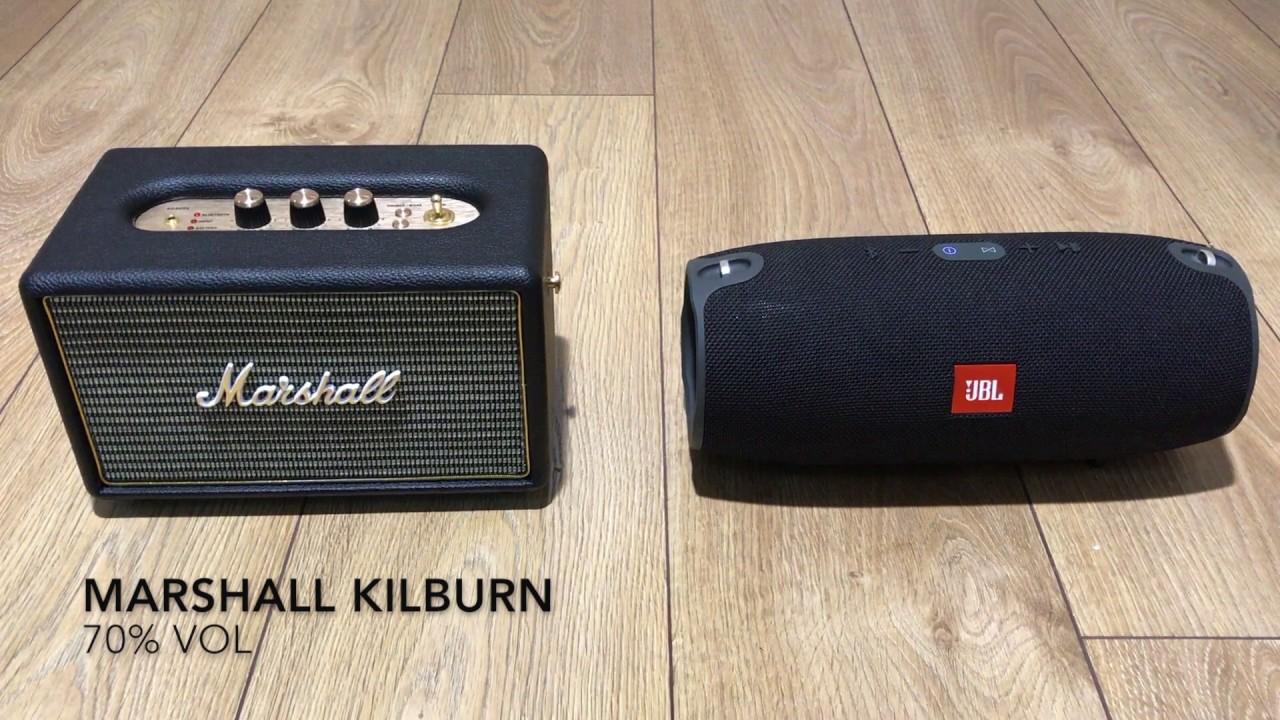 Marshall Kilburn vs Jbl Xtreme - YouTube