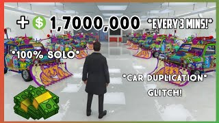 *WORKING* SOLO CAR DUPLICATION GLITCH* *$1,700,000* EVERY 3 MINUTES!