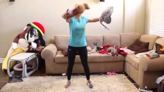 Jenna Marbles -Тренировка в домашних условиях