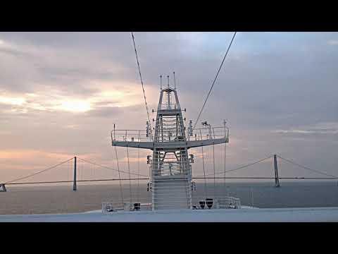 Baltic Sea CRUISE JUL 2014 PART 10  GREAT BELT BRIDGE