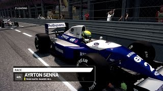 F1 1994 mod - AYRTON SENNA - RACE MONACO - GAMEPLAY