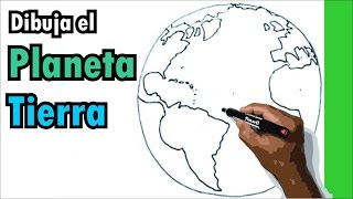 Aprende a dibujar facil - dibujo del planeta tierra - globo terraqueo - earth