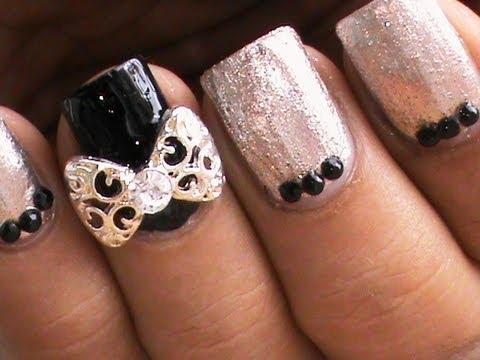 elegant nails bow nail art designs  youtube
