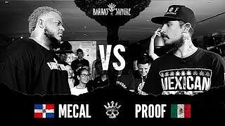 Barras De Sangre Mecal  vs Proof   Batallas Escritas