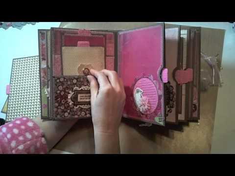 6x8 Valentine's Mini-Album featuring BasicGrey Kissing Booth - YouTube