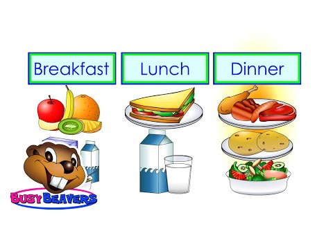 """""""Breakfast, Lunch, Dinner"""" (Level 2 English Lesson 16) CLIP - Kids Food, English Words, Meals"""