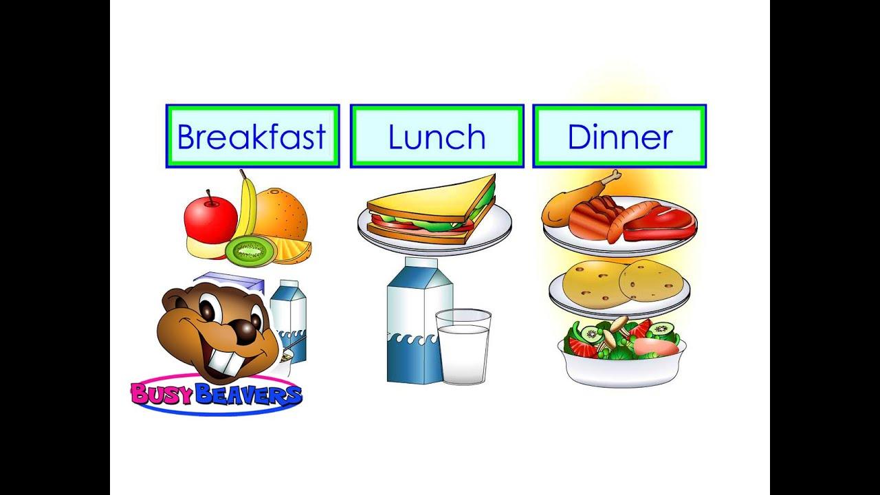 Breakfast Lunch Dinner Level 2 English Lesson 16