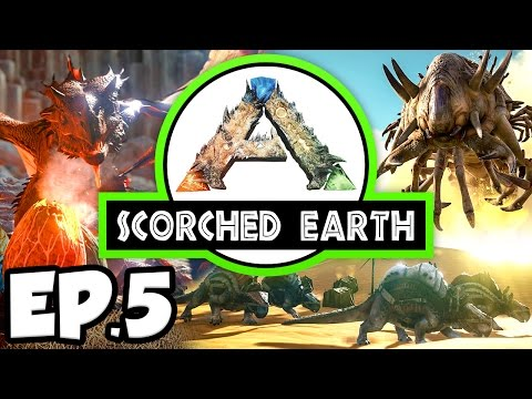 ARK: Scorched Earth Ep.5 - THORNY DRAGON DINOSAURS TAME ATTEMPT!!! (Modded Let