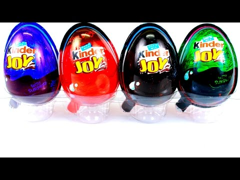 Kinder Joy Surprise Eggs  Blue Red Black Green editions Unboxing by boo boo Tv