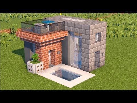 СОВРЕМЕННЫЙ ДОМ В MINECRAFT! Компактная версия с бассейном, 2 этажа