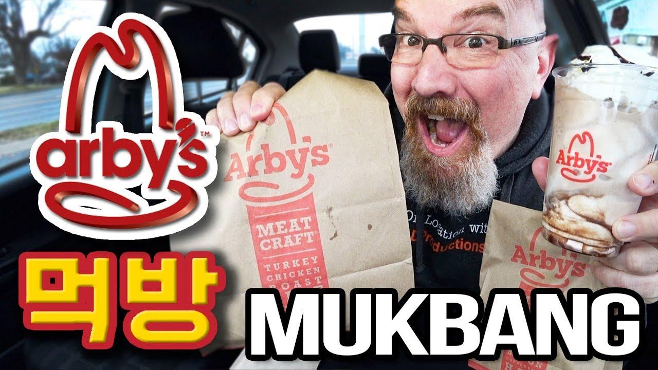 MUKBANG 먹방 | Arby's Arbynator, Turnover & Shake • EATING SHOW