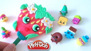 DIY Shopkins Strawberry Popsicle Play-Doh Recipe How To Make Play Doh Ice Cream - CLAY ART TV