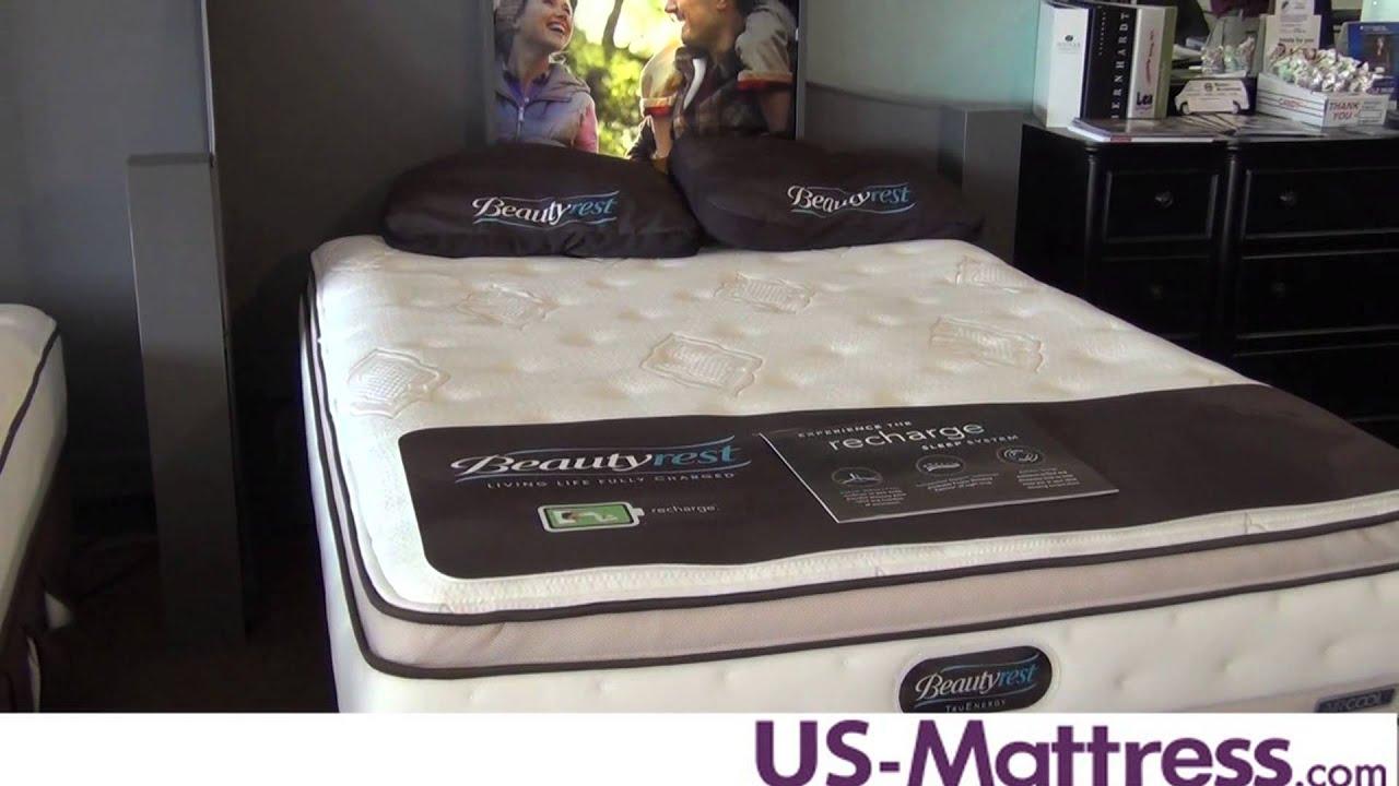 Simmons Beautyrest Truenergy Lakelyn Plush Pillow Top Mattress Youtube