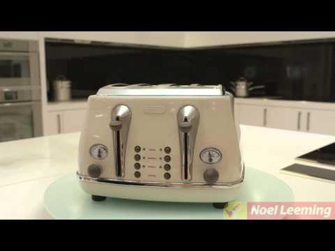 Delonghi Icona Vintage 4 Slice Toaster (white) -- Demonstration