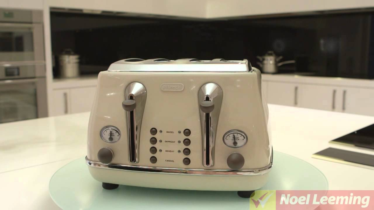 Delonghi Icona Vintage 4 Slice Toaster White