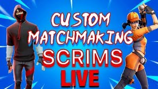 🔴FORTNITE LIVE CUSTOM MATCHMAKING SCRIMS OPEN LOBBY(VBUCK GIVEAWAY SOON)