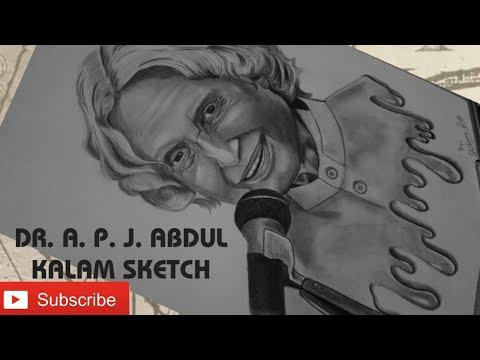 Drawing A. P. J. Abdul Kalam / Pencil Sketch / Missile Man ...