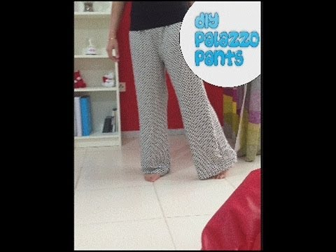 How To Stitch Palazzo Pants Full Tutorial Youtube