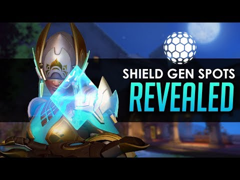 Overwatch: The Best Shield Generator Spots for Symmetra REVEALED! (Updated guide and locations)
