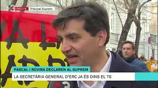 Españolistas increpan a Sabrià cuando hablaba con TV3