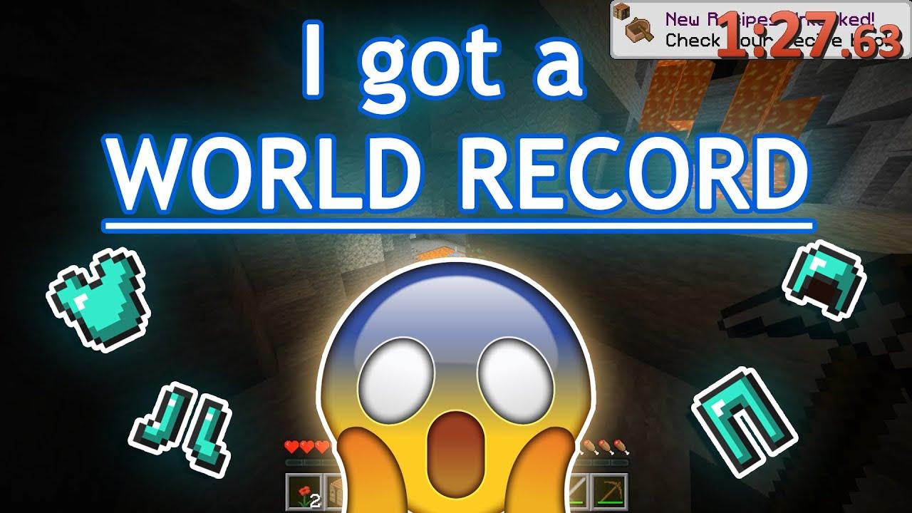 I GOT A MINECRAFT WORLD RECORD!!