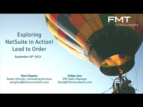 Explore NetSuite in Action: from Lead to Order