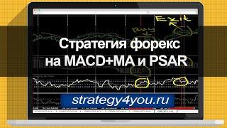 Стратегия форекс на MACD+MA и PSAR