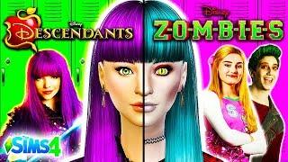 Descendants 2 Characters as ZOMBIES!🧟 | Disney Zombies | Descendants 2 Sims 4 CAS Challenge!